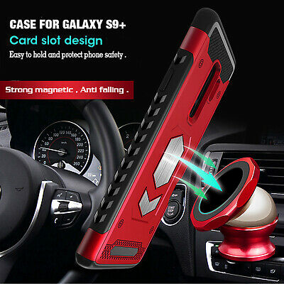 For Samsung S10 5G Note 9 S9+ S7 Magnetic Heavy Duty Hybrid TPU Armor Case Cover