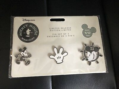 NWT Disney Mickey Mouse Memories Pins January limited edition
