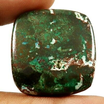 67.45ct Natural Designer Chrysocolla Untreated Cabochon Cushion Loose Gemstone