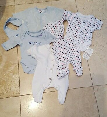 8771d3c44fdb 2X MOTHERCARE BABY boys Long sleeve Sleepsuits 0-3 months scratch ...