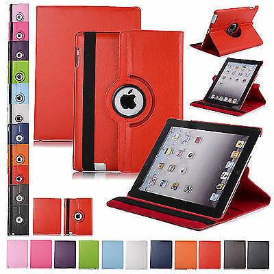 Leather 360 Rotating Smart Stand Case Cover For APPLE iPad Air 4 3 2 mini PRO