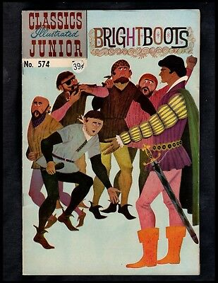 Classics Illustrated Junior #574 Fine Hrn576 (Brightboots) Free Shipping On $15+