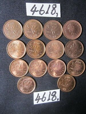 14 x  coins from Canada    20    gms      Mar4618