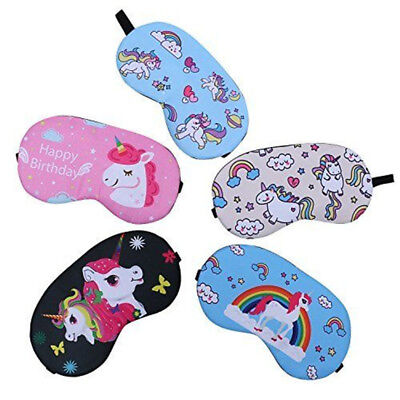 Unicorn Sleep Eye Mask Shade Cover Travel Relax Aid Blindfold Shield New