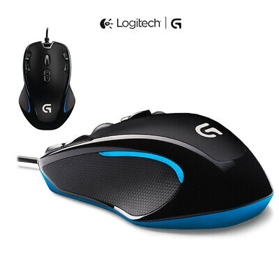 Logitech G300S Ergonomic Optical Gaming Mouse 7 Backlit Programmable Adjust DPI