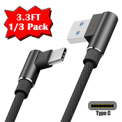 Lot USB-C Type-C 3ft Nylon Braided Rope Data Sync Charger Charging Cable Cord