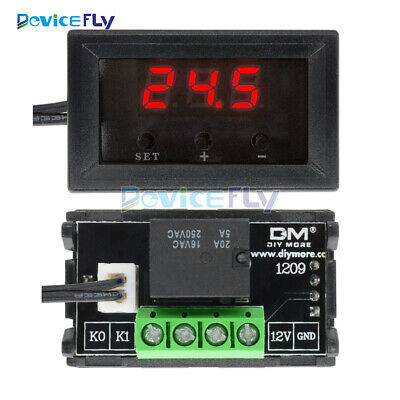 Digital 12V W1209 Thermostat Temperature Controller Switch Sensor 50-110°C +Case