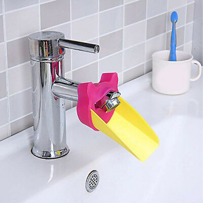 Kids Child Toddler Water Tap Faucet Extender Washing Hands Bathroom Sink 3Colors