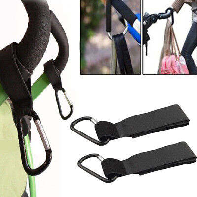 Baby Stroller Black Hook Clip for Pram Buggy Pushchair Wheelchair Rollator Hot