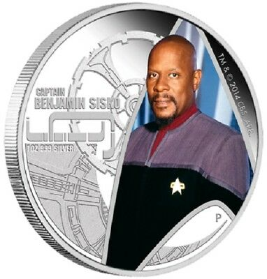 2015 $1 Tuvalu Star Trek Coin Series - Captain Benjamin Sisko Deep Space Nine