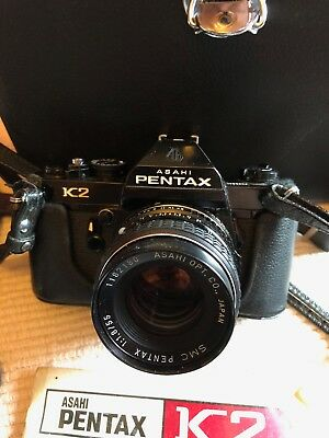 Vintage Pentax K2 35mm Film Camera & accessories