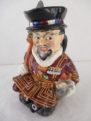 Toby Jug Beefeater contempary ceramic made by Burleigh England