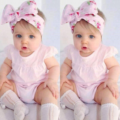 AU Stock Newborn Baby Girl Ruffle Romper Jumpsuit Bodysuit Clothes Outfit Summer