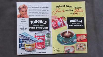 1960's Circa Tongala Milk Products (Swiss Style) Advertising and Recipes Winter