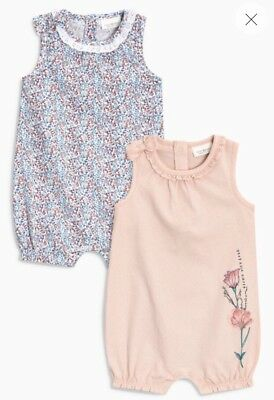 ⭐️new⭐️ Bnwt Next Baby Girl Floral Rompers Bodysuit Playsuit 3-6 Months