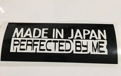 Made in Japan Perfected in UK 18cm x 4cm Funny Sticker Car Window 11 Colours
