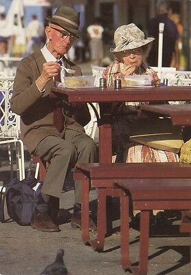 1990s VINTAGE AUSTRALIAN COLOUR POSTCARD Real Sydney : Eating Out
