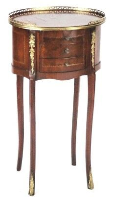 Antique French Louis XV Style Walnut Bedside Chest - FREE Shipping [PL4571]