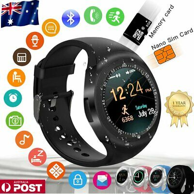 2019 Waterproof Y1 Smart Watch Bluetooth SIM Wristwatch for Samsung IOS Android