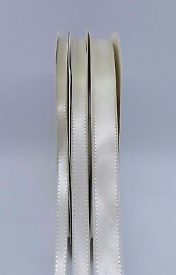 Luxury Satin Ribbon Double Side width 6mm,10mm,15mm Ivory White Colour