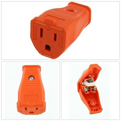 3 Wire Grounding Connector 15 Amp 125 Volt Electrical Plugs Female Connectors US