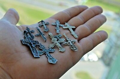set silver crosses