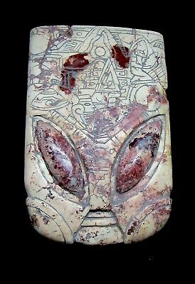 Ancient Pre-Columbian Ojuelos de Jalisco Stone Alien HUGE Artifact Mask !