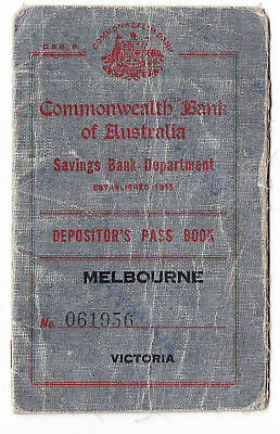 OLD BANK BOOK  Commonwealth Bank 1926 -1937 filled and cancelled