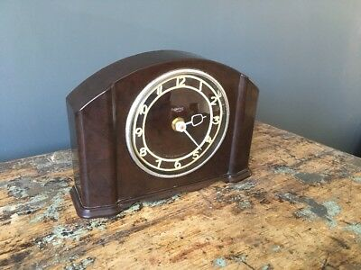 Smiths Art Deco Bakelite Clock - Working With Replacement Movement