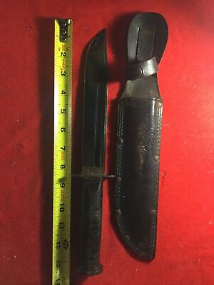 "RARE WWII WW2 Western Large ""shark"" G-46-8 USN ,USMC Aviators Fighting Knife ID"