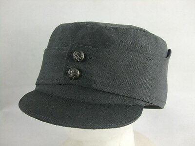 WW2 Finnish Stone Grey Gabardine Officer Field Cap Without Badge