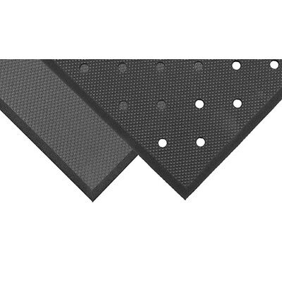 Notrax T17P0035BL Superfoam Anti-Fatigue Mat 3 ft. x 5 ft., Perforated