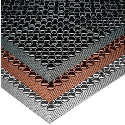 Notrax 437434 Phoenix Anti-Fatigue Mat 3 ft. Wide x 10 ft. Deep, Black