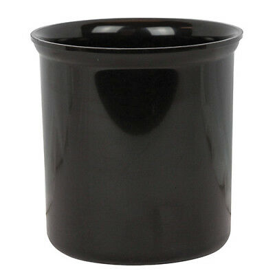 Value Series P1200654-CR Polypropylene Salad Crock with Lid, 1.2 Qt, Black