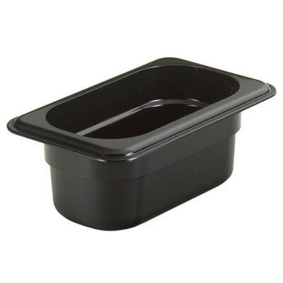 Cambro 92CW110 Cold Food Pan - Camwear, Ninth-Size, 5/8 Quart, Black