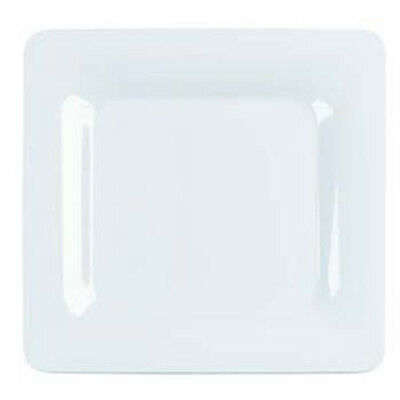 "Carlisle 4440002 Serving Platter - Melamine 12"" Square, White"