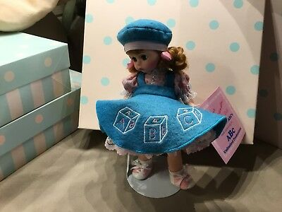 Madame Alexander 8 Inch Doll:  Wendy Learns Her ABC's ~ Excellent  with Stand/