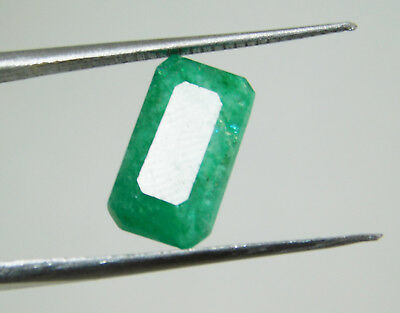 Emerald natural 4.45Cts certified green cushion cut colombian loose gemstone1428