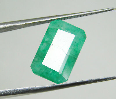 Emerald natural 7.20Cts certified green cushion cut colombian loose gemstone1431