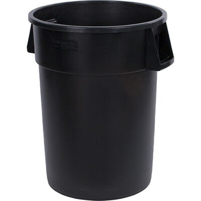 Carlisle 34103203 Round Waste Container - 32 Gallon Cap., Black