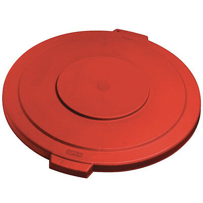 Carlisle 34104505 Flat Lid for Round Bronco Waste Container 269-605, Red