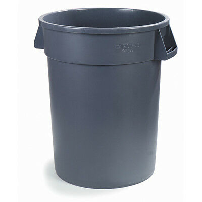 Carlisle 34103223 Round Waste Container - 32 Gallon Cap., Gray