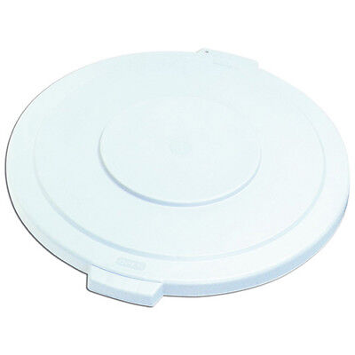 Carlisle 34103302 Flat Lid for Round Bronco Waste Container 269-603, White