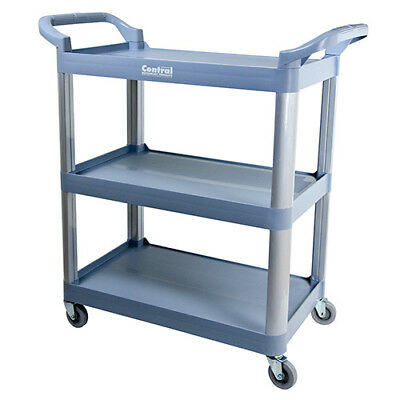 "Value Series UC-2415G Bussing and Utility Cart, 3 Shelves, 31""Wx16""Dx37""H, Gray"