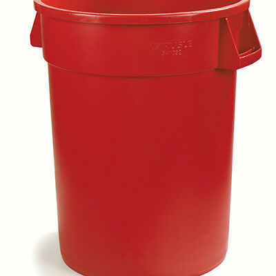Carlisle 34103205 Round Waste Container - 32 Gallon Cap., Red