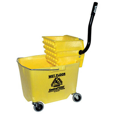 Central Exclusive 6Y/2635-3Y-970 Side Press Bucket/Wringer Combo, 35 Qt., Yellow