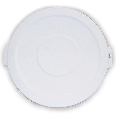Carlisle 34101102 Flat Lid for Round Bronco Waste Container 269-599, White