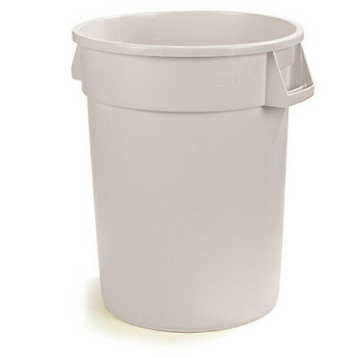 Carlisle 34103202 Round Waste Container - 32 Gallon Cap., White