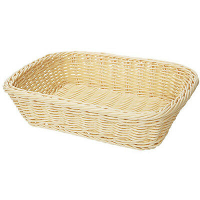 "G.E.T. WB-1508-N Poly Woven Basket Rectangular, 11.5""Wx8.5""Dx2.75""H, Natural"