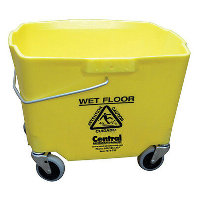 "Central Exclusive 2635-3Y-970 Mop Bucket, 35 Qt., 14""D, Yellow"